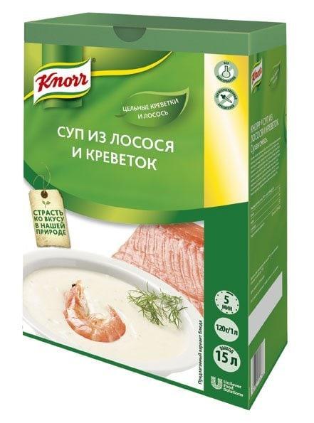 Knorr Крем супа сьомга и скариди -