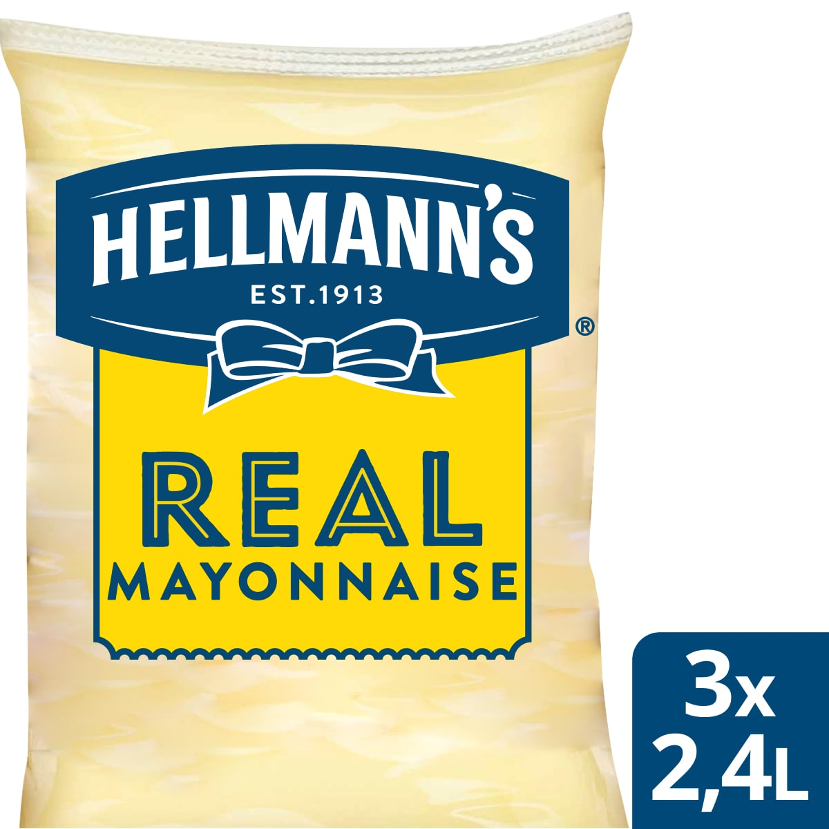 Hellmann's Майонеза Real пауч 2.4 l - Hellmann's дресинг паучове за лесно и ефикасно дозиране