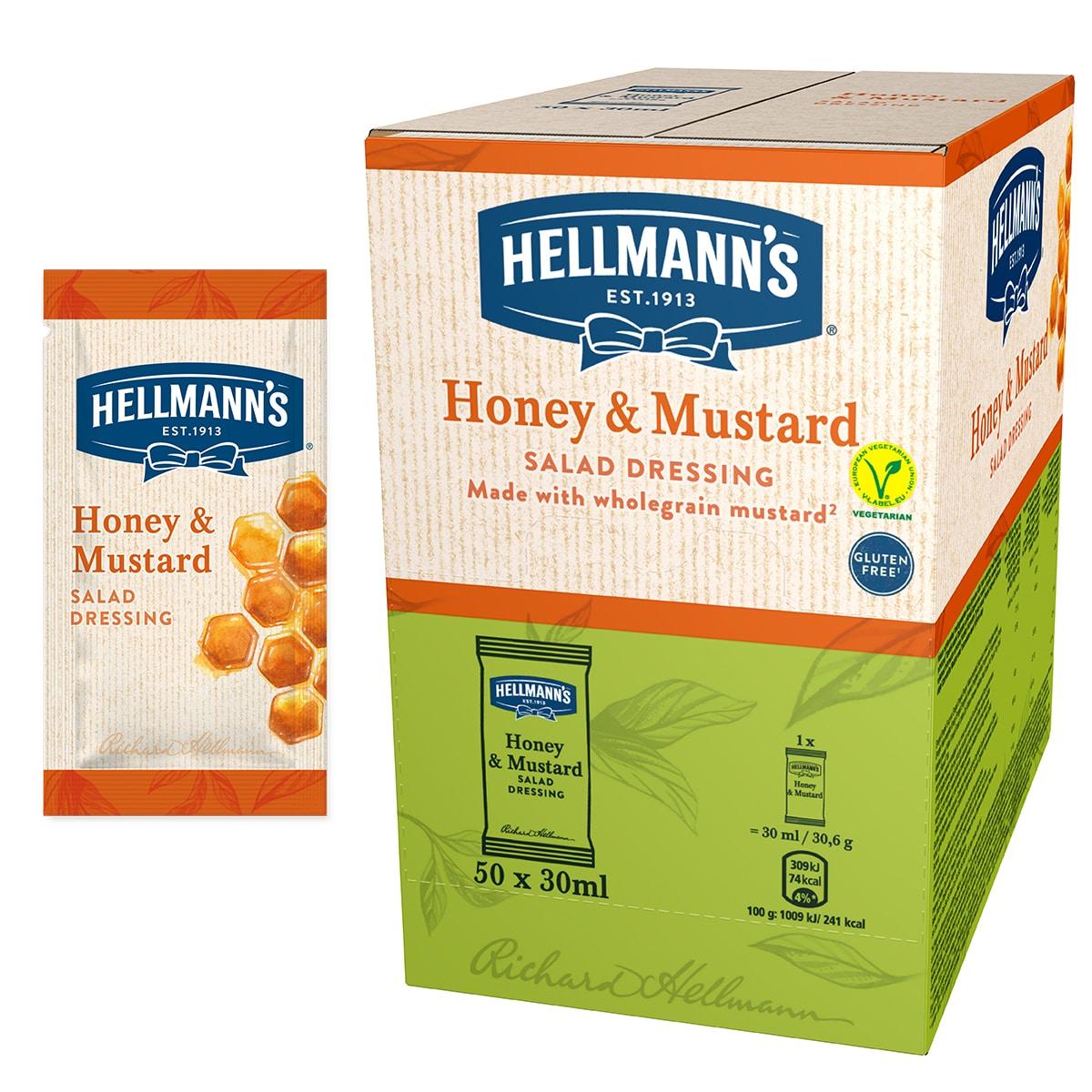 Hellmann's Салатен дресинг Мед & Горчица - доза 30 ml