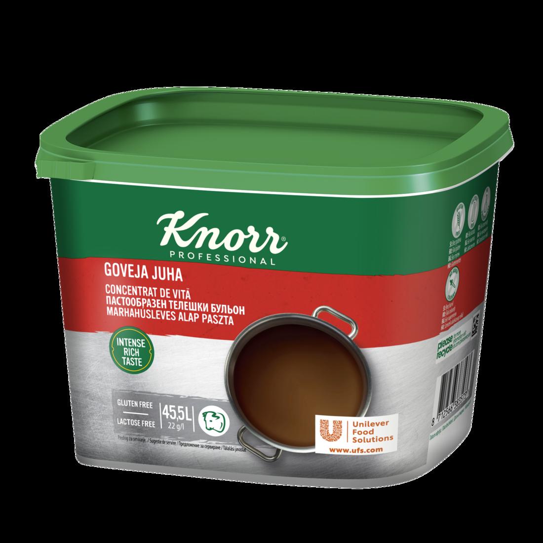 Knorr Телешки пастообразен бульон - Перфектното решение за бързо приготвяне на отлични ястия и подсилване на вкуса!